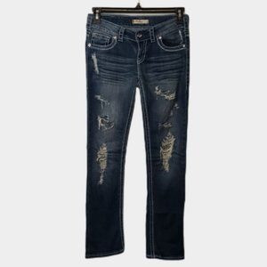 Silver Manchester straight leg distressed jeans